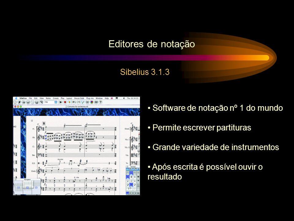 Editores de notação Sibelius 3.1.3 Software de notação nº 1 do mundo
