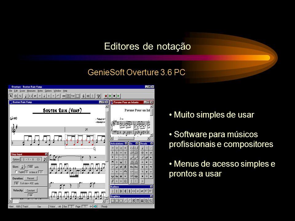 Editores de notação GenieSoft Overture 3.6 PC Muito simples de usar