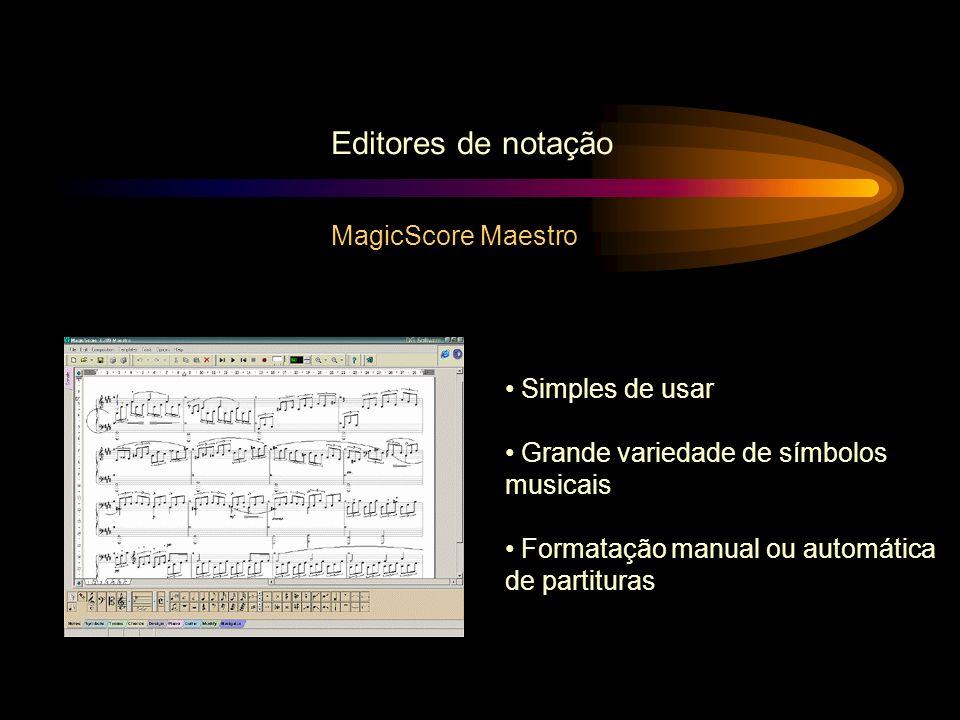 Editores de notação MagicScore Maestro Simples de usar