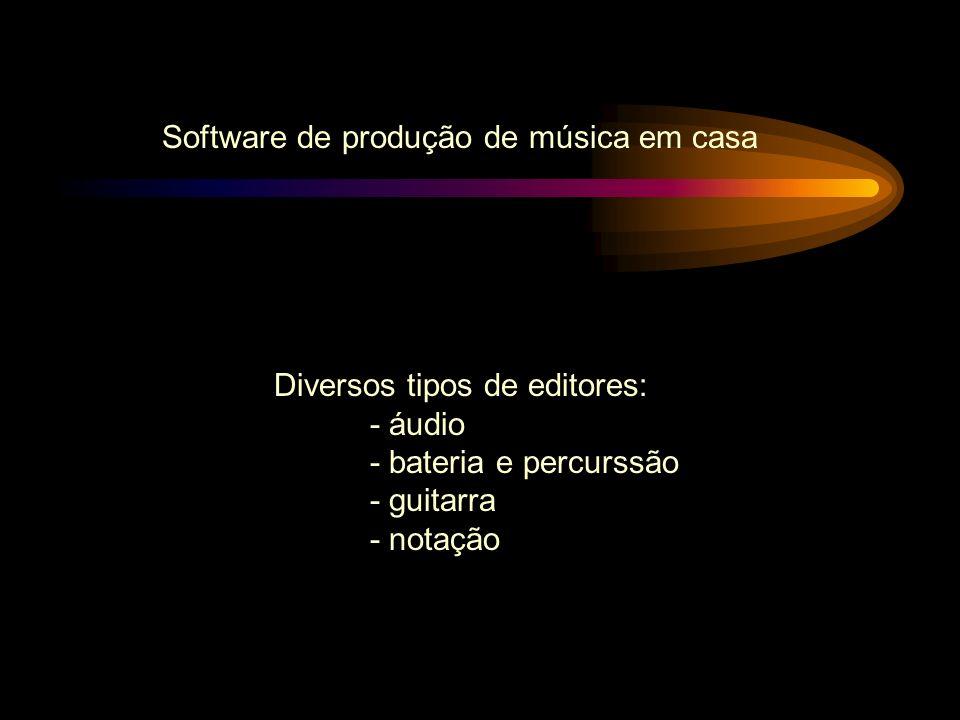 Software de produção de música em casa