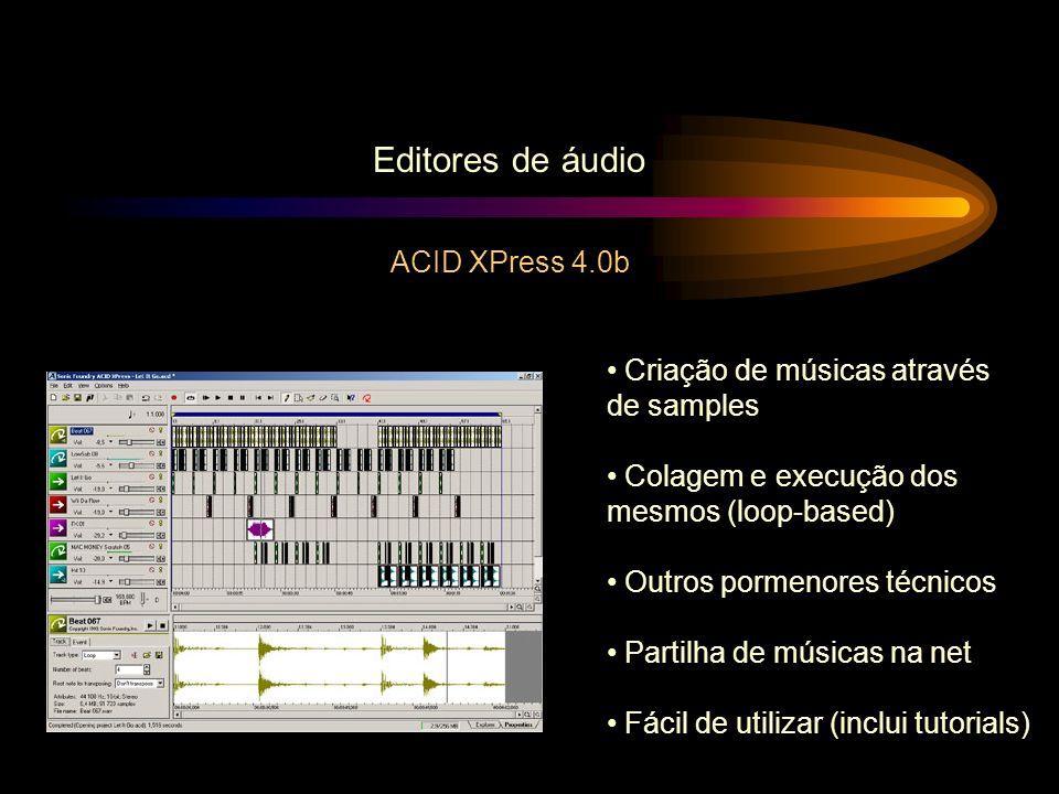Editores de áudio ACID XPress 4.0b Criação de músicas através