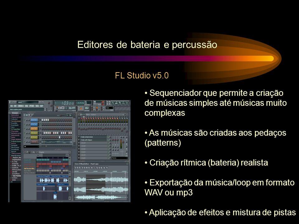 Editores de bateria e percussão