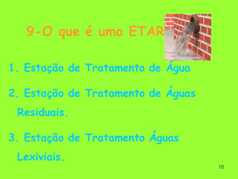 9-O que é uma ETAR Estação de Tratamento de Água