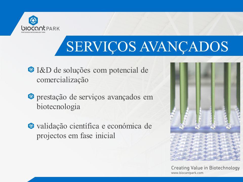 SERVIÇOS AVANÇADOS I&D de soluções com potencial de comercialização