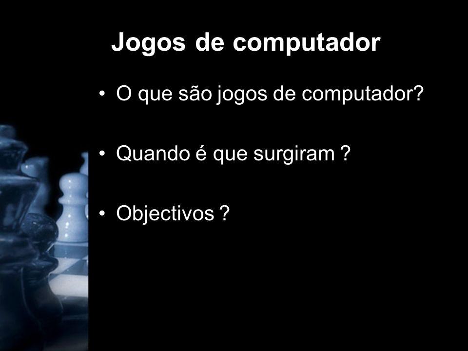 Jogos de computador O que são jogos de computador