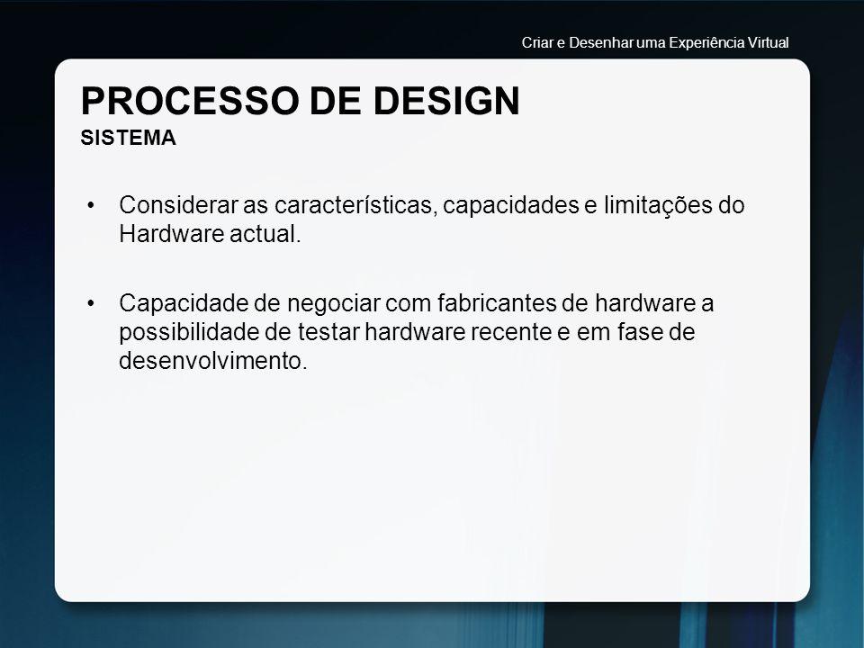 PROCESSO DE DESIGN SISTEMA