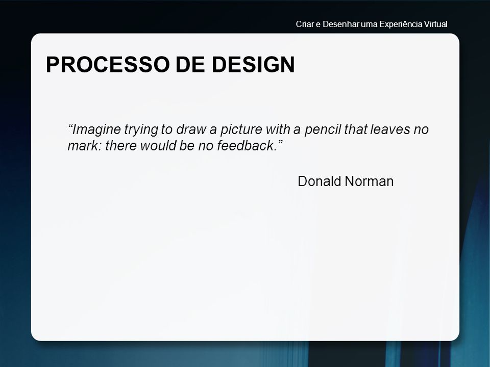 Criar e Desenhar uma Experiência Virtual
