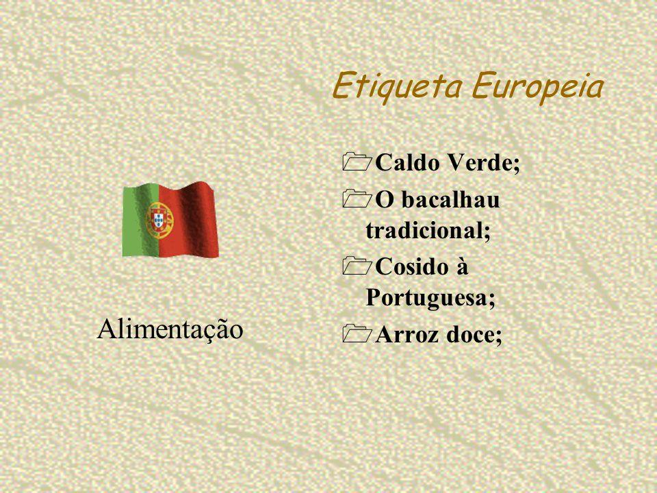 Etiqueta Europeia Alimentação Caldo Verde; O bacalhau tradicional;
