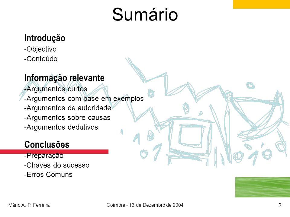 Coimbra - 13 de Dezembro de 2004