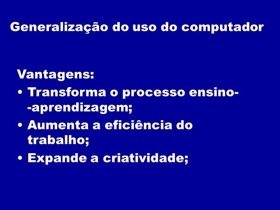 Generalização do uso do computador