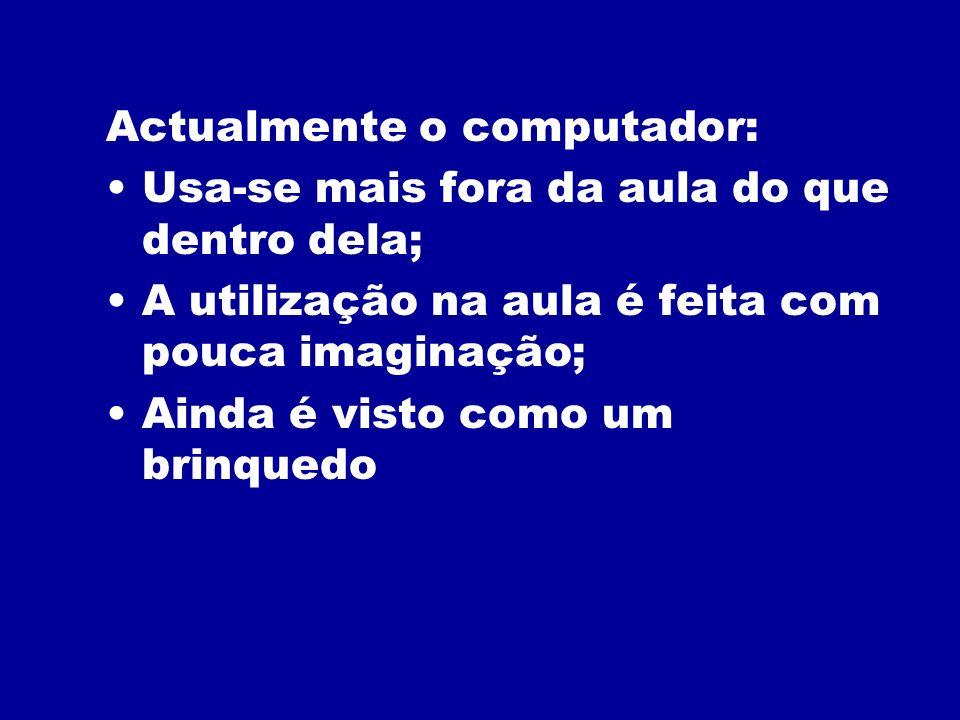 Actualmente o computador: