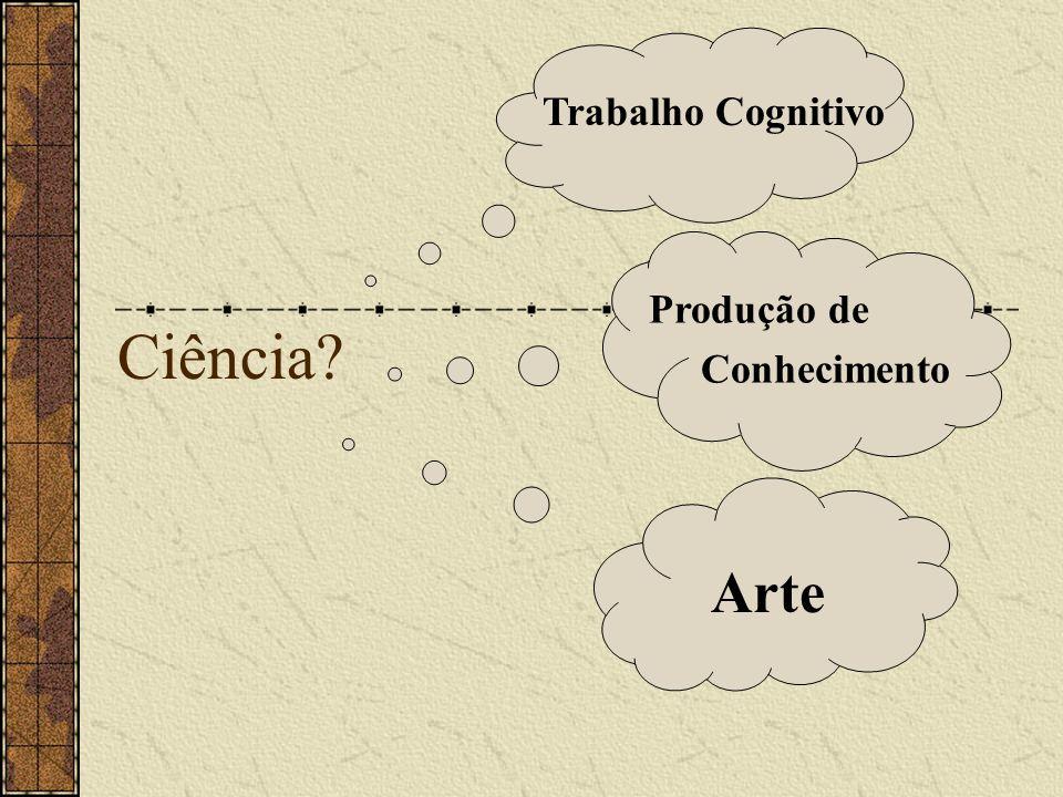 Trabalho Cognitivo Ciência Produção de Conhecimento Arte