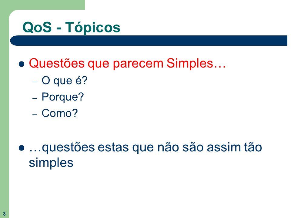 QoS - Tópicos Questões que parecem Simples…