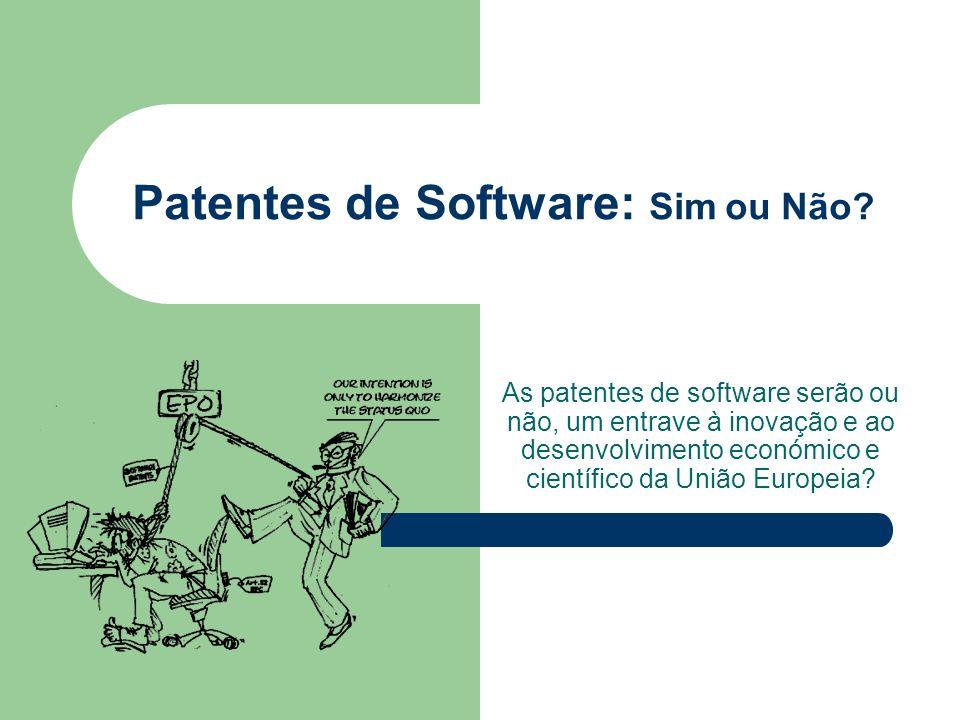 Patentes de Software: Sim ou Não