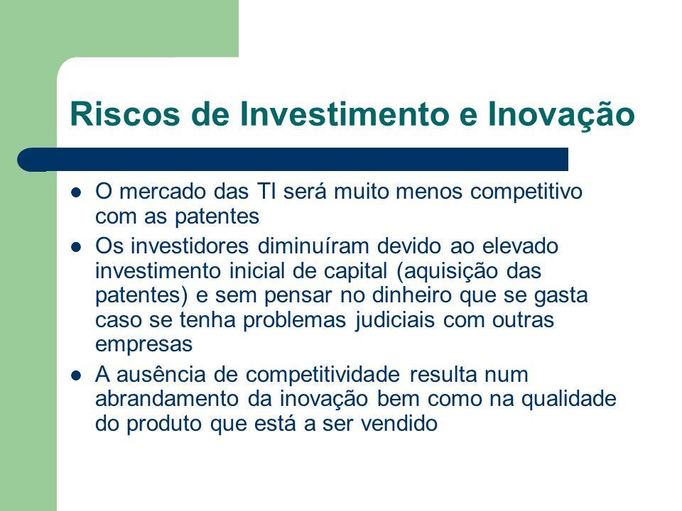 Riscos de Investimento e Inovação