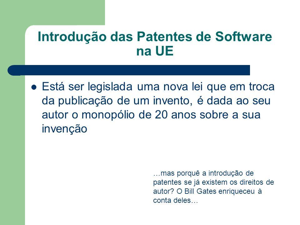 Introdução das Patentes de Software na UE