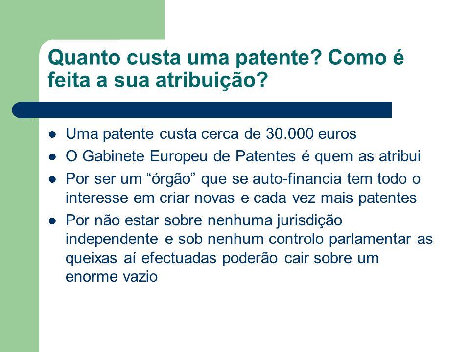 Quanto custa uma patente Como é feita a sua atribuição