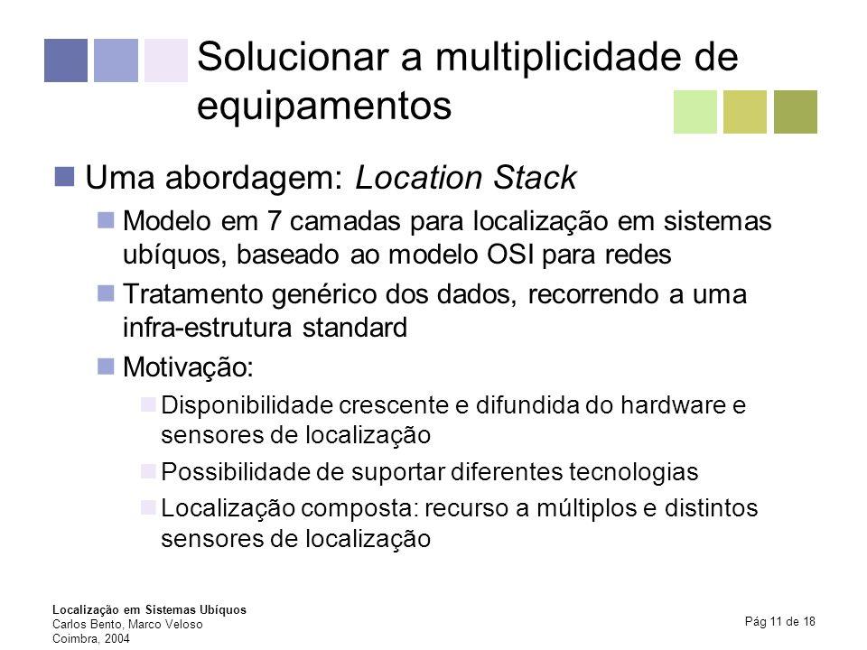Solucionar a multiplicidade de equipamentos