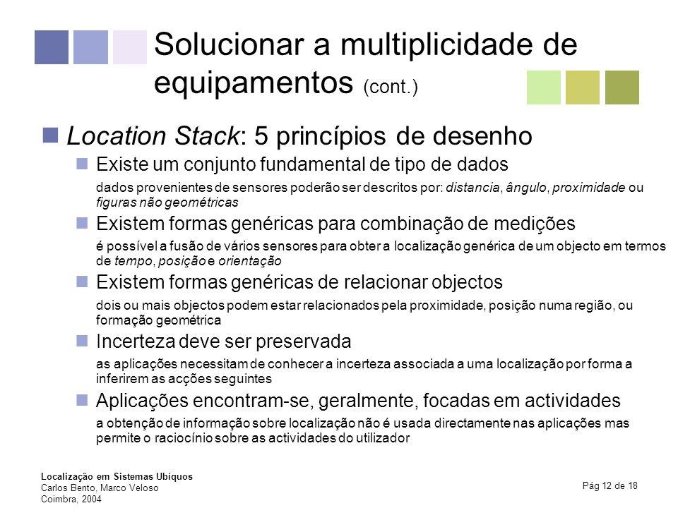 Solucionar a multiplicidade de equipamentos (cont.)