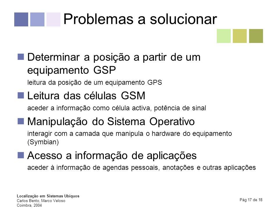 Problemas a solucionar
