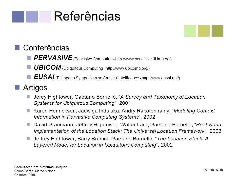 Referências Conferências Artigos