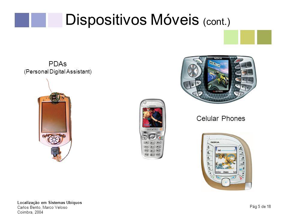 Dispositivos Móveis (cont.)