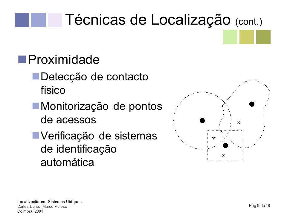 Técnicas de Localização (cont.)