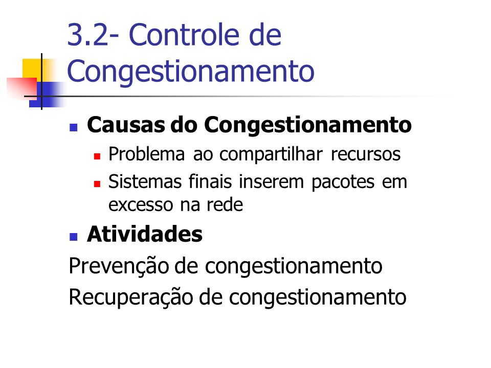 3.2- Controle de Congestionamento