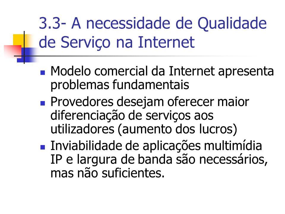 3.3- A necessidade de Qualidade de Serviço na Internet