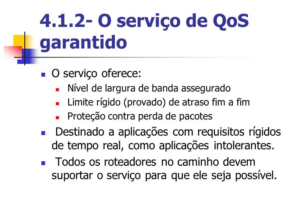 4.1.2- O serviço de QoS garantido