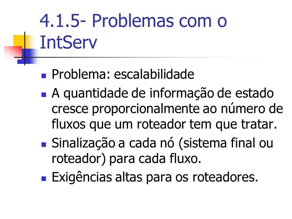 4.1.5- Problemas com o IntServ
