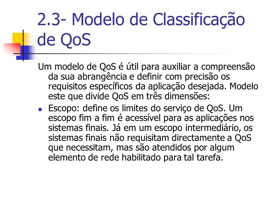 2.3- Modelo de Classificação de QoS