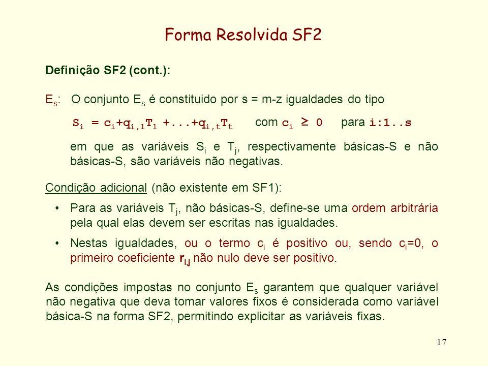 Si = ci+qi,1T1 +...+qi,tTt com ci ≥ 0 para i:1..s