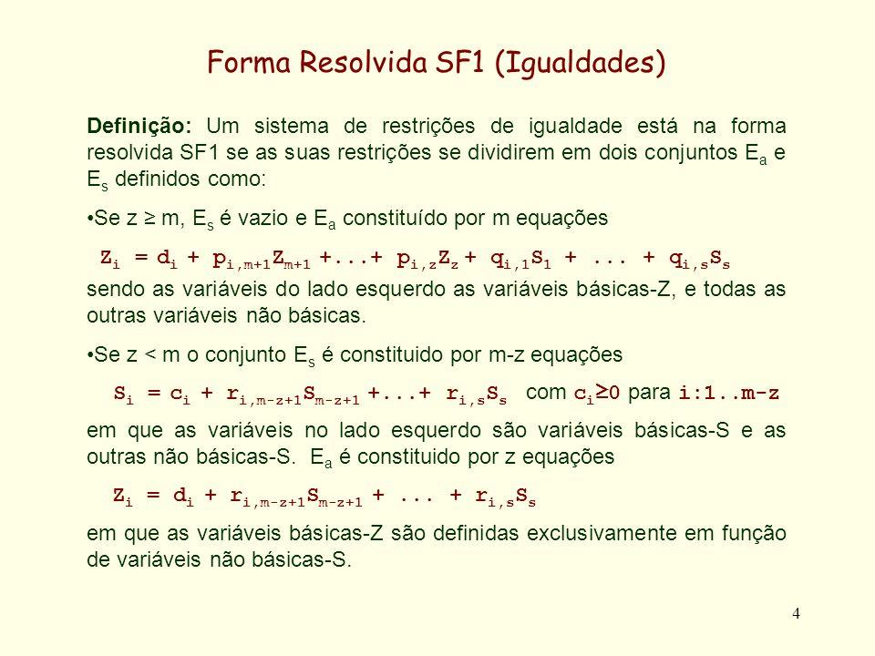 Forma Resolvida SF1 (Igualdades)
