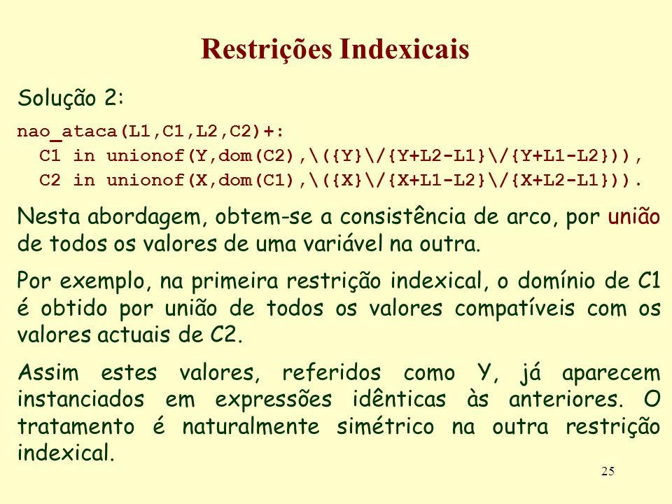 Restrições Indexicais