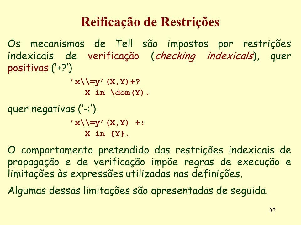 Reificação de Restrições