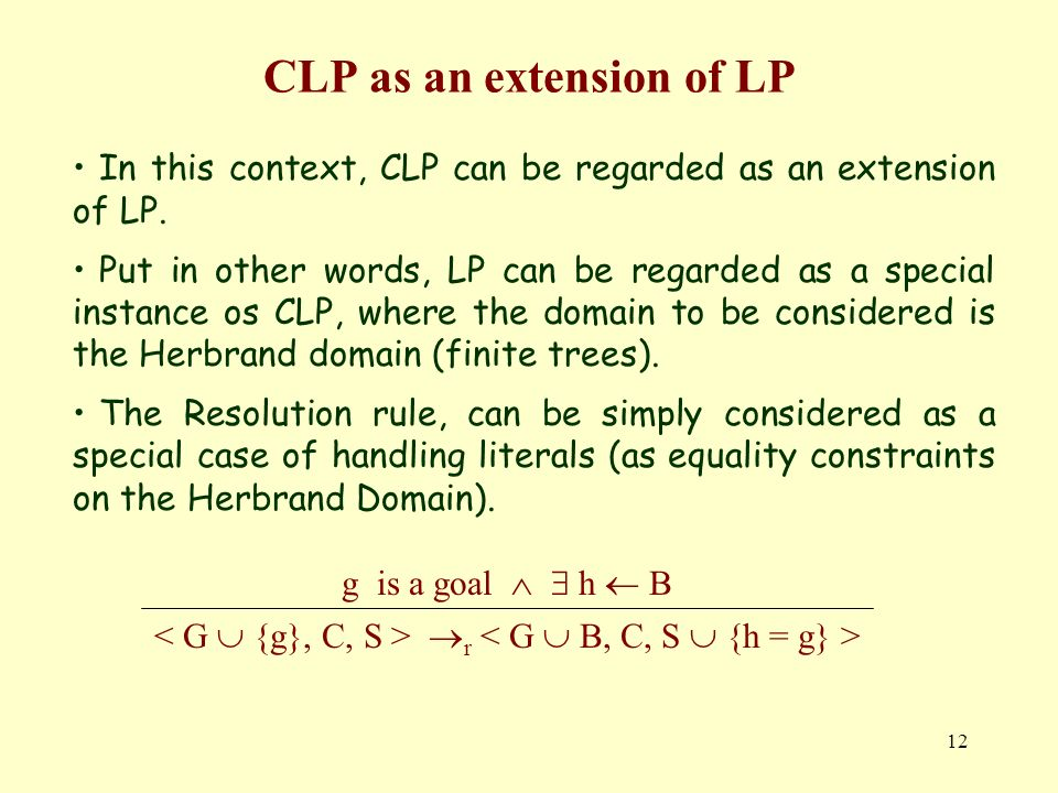 CLP as an extension of LP