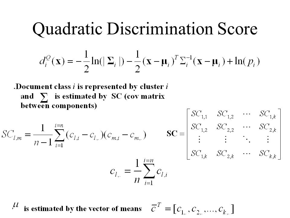 Quadratic Discrimination Score