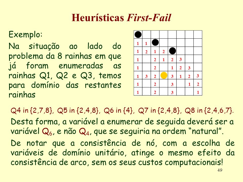 Heurísticas First-Fail