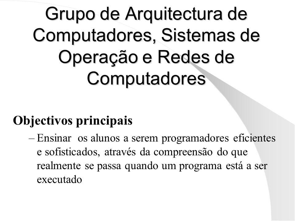 Grupo de Arquitectura de Computadores, Sistemas de Operação e Redes de Computadores