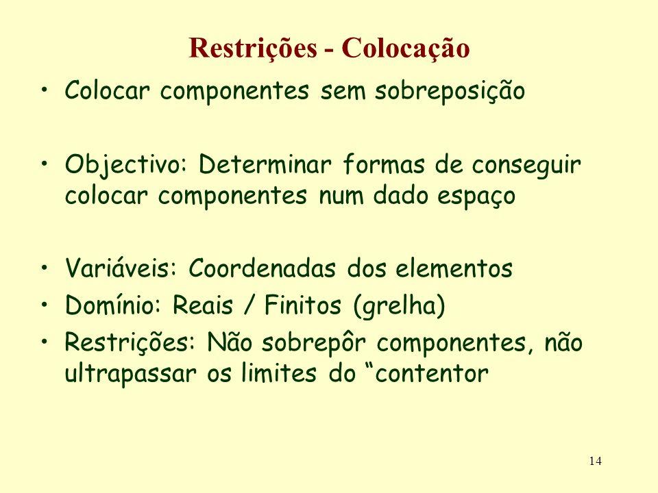 Restrições - Colocação