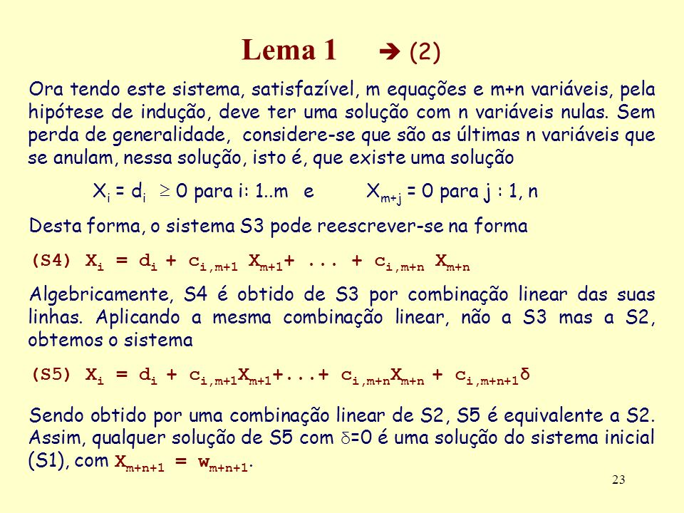 Lema 1  (2)