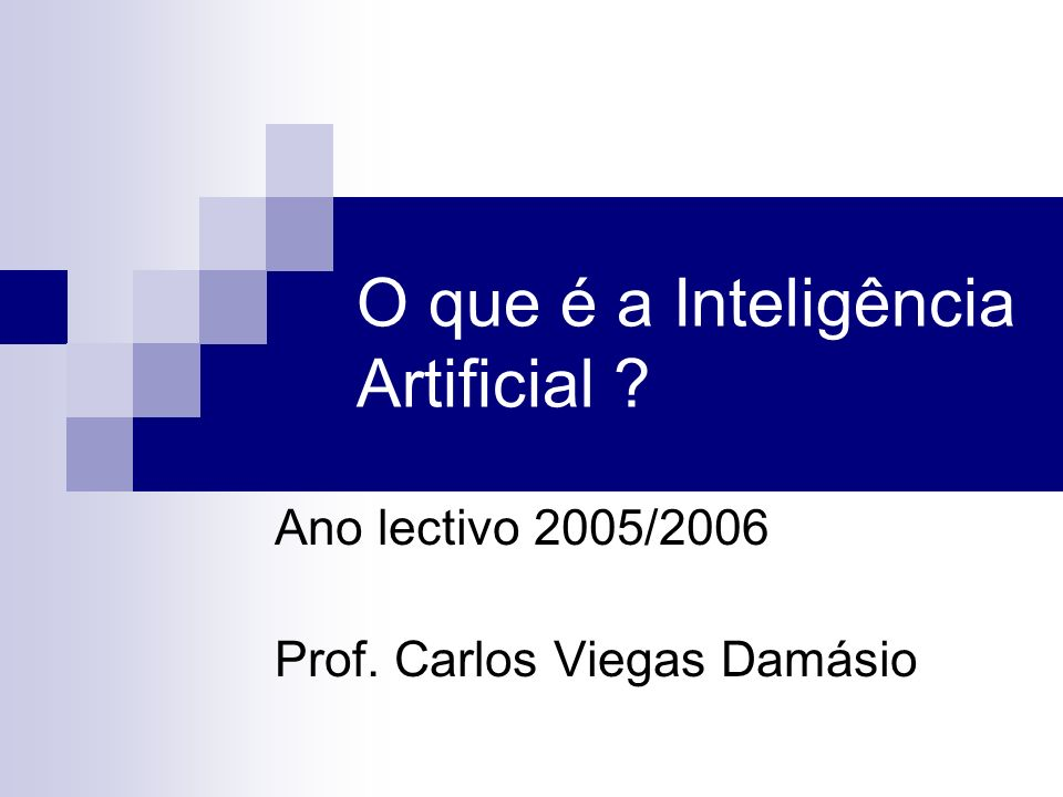 O que é a Inteligência Artificial
