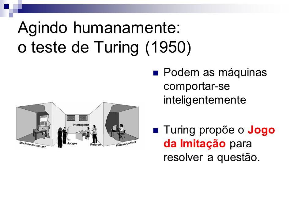 Agindo humanamente: o teste de Turing (1950)