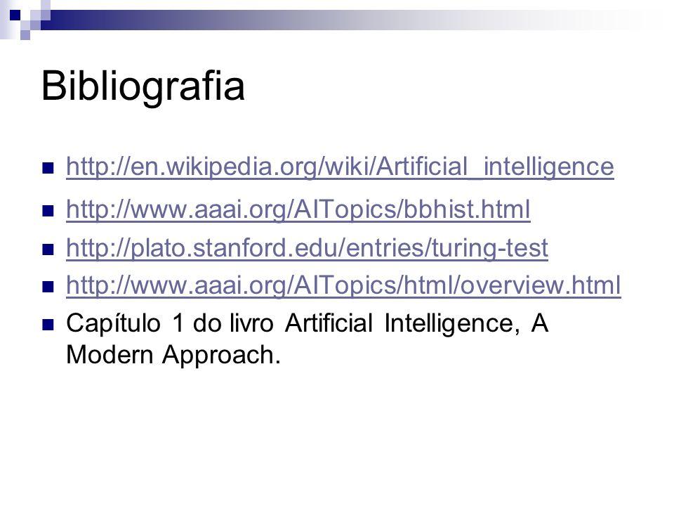 Bibliografia http://en.wikipedia.org/wiki/Artificial_intelligence