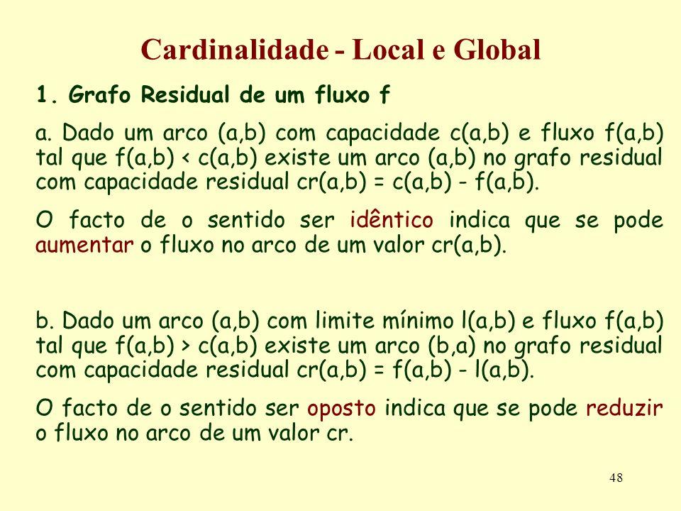 Cardinalidade - Local e Global