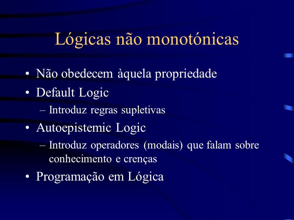 Lógicas não monotónicas
