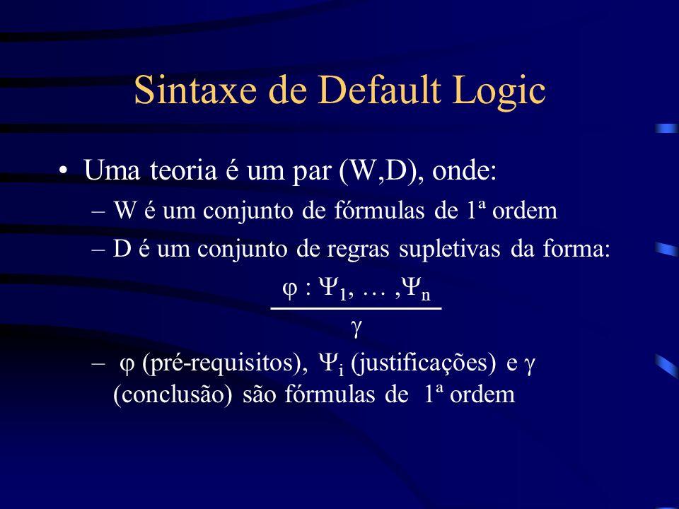 Sintaxe de Default Logic
