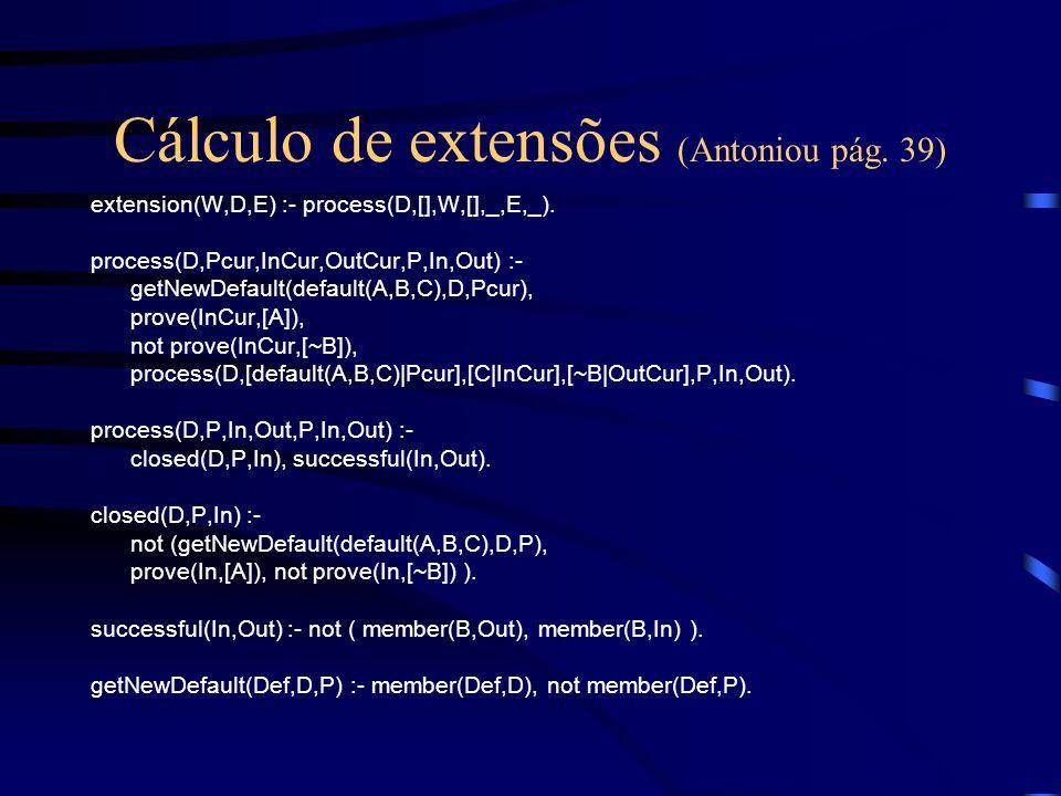 Cálculo de extensões (Antoniou pág. 39)