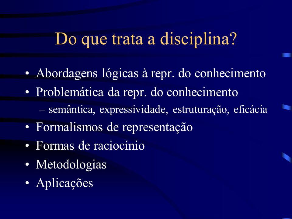 Do que trata a disciplina